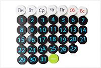 Календарь-магнит