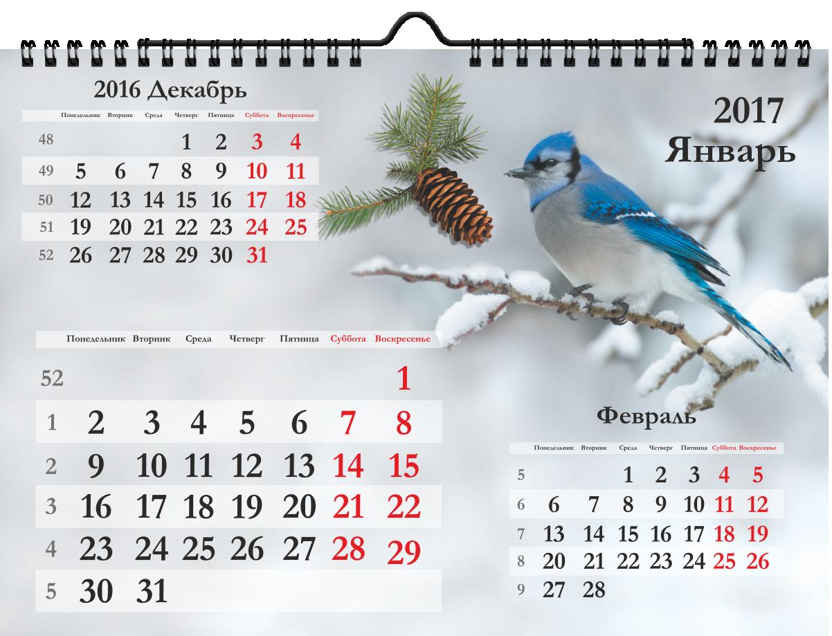 Календарь на ригеле